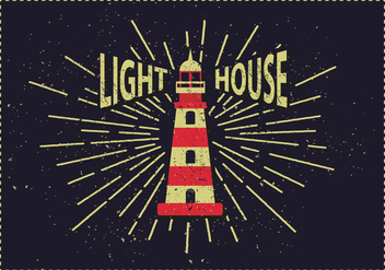 Free Vintage Lighthouse Vector Illustration - vector gratuit #382585