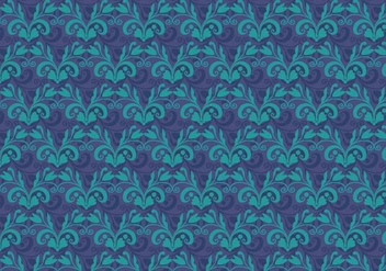 Cobalt Vector Western Flourish Pattern - vector gratuit #382625