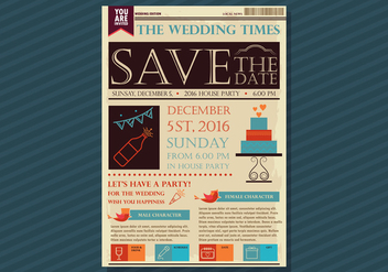 Old Newspaper Wedding Edition - бесплатный vector #382865