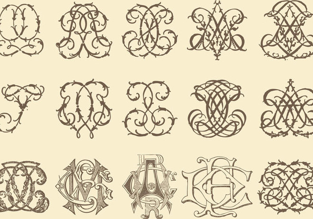 Ancient Monograms - vector gratuit(e) #383025