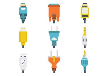 Free Different Connection Plug Vector - Kostenloses vector #383255