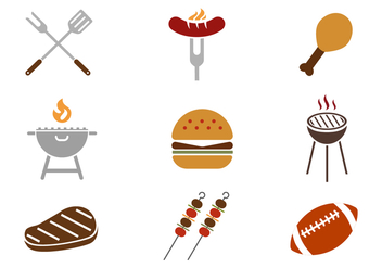 Free Tailgating Feast Icons Vector - Free vector #383275