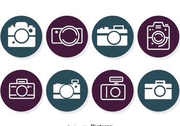 Camera Circle Icons - Kostenloses vector #383345