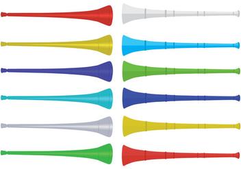 Free Vuvuzela Icons - vector #383525 gratis