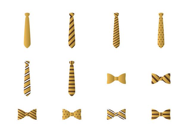Vector Icon Tie And Bow Tie - vector #383695 gratis