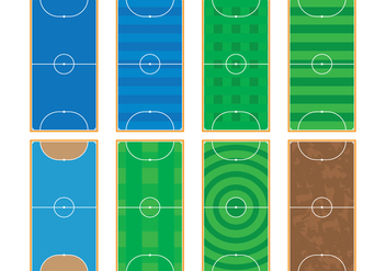 Futsal Courts - Free vector #383825