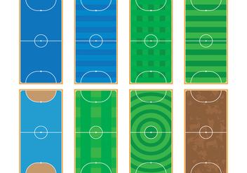 Futsal Courts - Free vector #383825