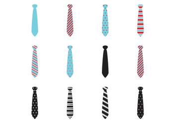 Different Color Neck Tie Collection - бесплатный vector #383845