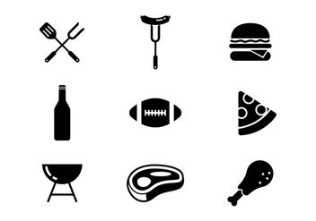 Free Tailgating Feast Icons Vector - Free vector #383895
