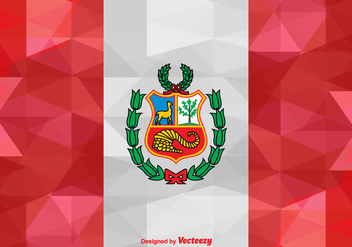 Vector Abstract Flag of Peru Illustration - Kostenloses vector #384025