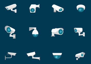 CCTV Security Camera - vector gratuit #384065