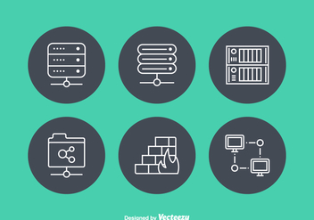 Free Network Servers Vector Icons - Kostenloses vector #384085
