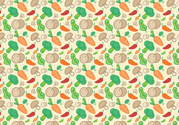 Vegetables Pattern Vector - vector #384235 gratis
