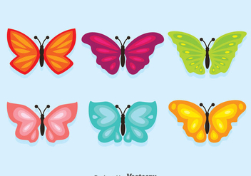 Colorful Butterfly Collection Vector - vector gratuit #384275