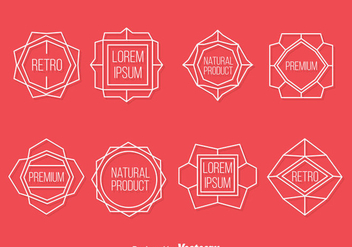 Retro Label Vector Set - Free vector #384355