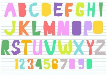 Fun Alphabet Vector - Kostenloses vector #384605