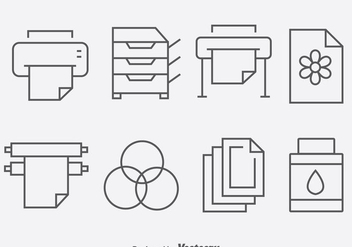 Print Tool Icons Vector - vector gratuit #384635