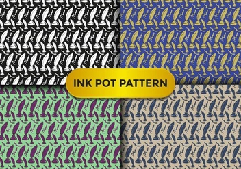 Ink Pot Pattern Vector - Free vector #384765