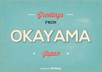 Okayama Japan Greeting Illustration - Kostenloses vector #384955