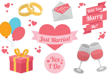 Free Marry Me Icons Vector - vector #385265 gratis