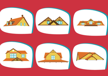 Classic Rooftops Vector - Free vector #385355