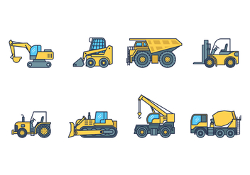 Free Heavy Machinery Icon - vector #385385 gratis