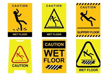Wet Floor Vector - vector #385735 gratis