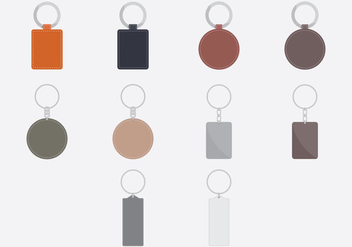 Key Chains Template Icon Set - vector gratuit #385775