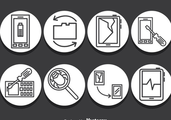 Smartphone Repair Icons Vector - бесплатный vector #386035