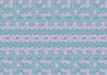 Lace Trim Pattern Vector - vector #386085 gratis