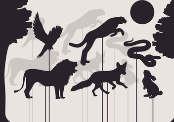Shadow Puppet Vector - Free vector #386445