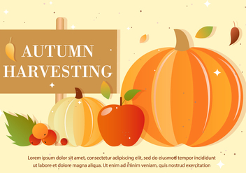 Free Autumn Vector Harvest - бесплатный vector #386745