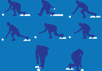 Lawn Bowls Silhouettes - Free vector #386835
