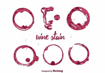Wine Stain Vector - Free vector #387255