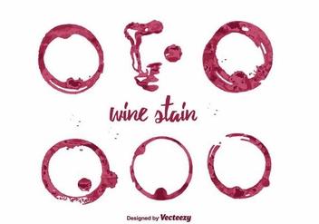 Wine Stain Vector - Kostenloses vector #387255