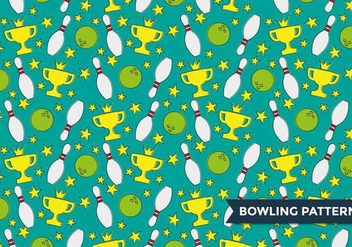 Bowling Alley Pattern Vector - бесплатный vector #387335
