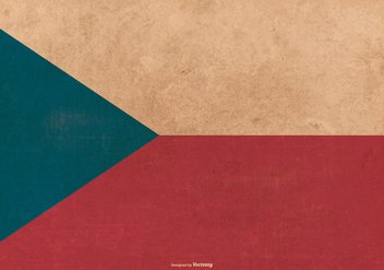 Czech Republic Grunge Flag - vector #387365 gratis