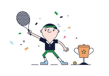 Free Tennis Vector - Kostenloses vector #387385