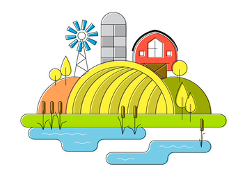 Farm Vector Illustration - Free vector #387425