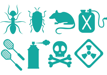 Pest control icons - Free vector #387435