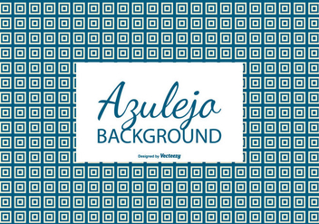 Square Azulejo Tile Background - Free vector #387445