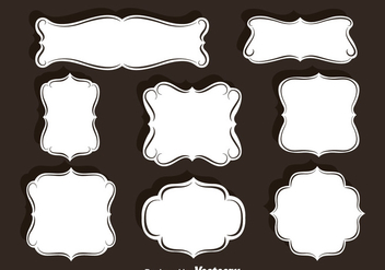 Ornament Frames Vector Set - бесплатный vector #387475