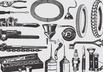 Vintage Mechanic Tools - Free vector #387505