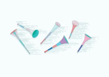 Vuvuzela Vector - Free vector #387515