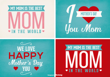 Mother's Day Label Set - vector #387755 gratis
