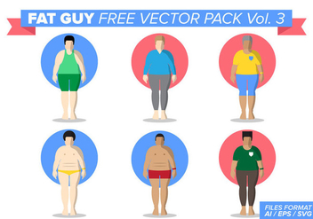 Fat Guy Free Vector Pack Vol. 3 - vector #387775 gratis