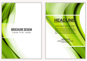 Free Vector Green Wavy Business Brochure - Free vector #387815