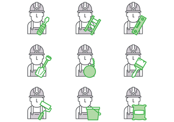 Free Bricklayer Vector - Free vector #388155