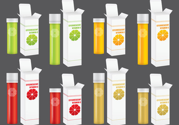 Effervescent Vitamin Packs - vector #388235 gratis