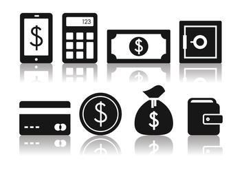 Free Minimalist Banking Icon Set - vector #388485 gratis